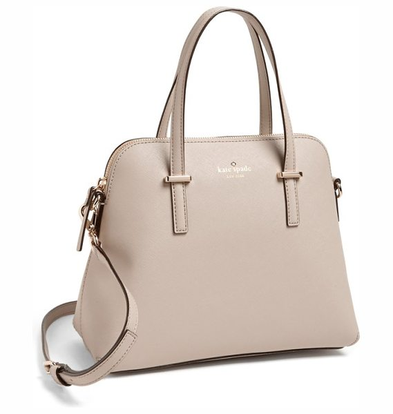 Kate Spade New York Cedar street in clock tower - A tidy satchel crafted from lavishly textured leather is...
