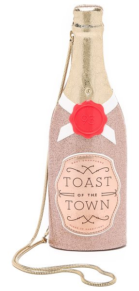 Kate Spade New York Champagne bottle clutch in rose gold - This champagne bottle inspired Kate Spade New York...