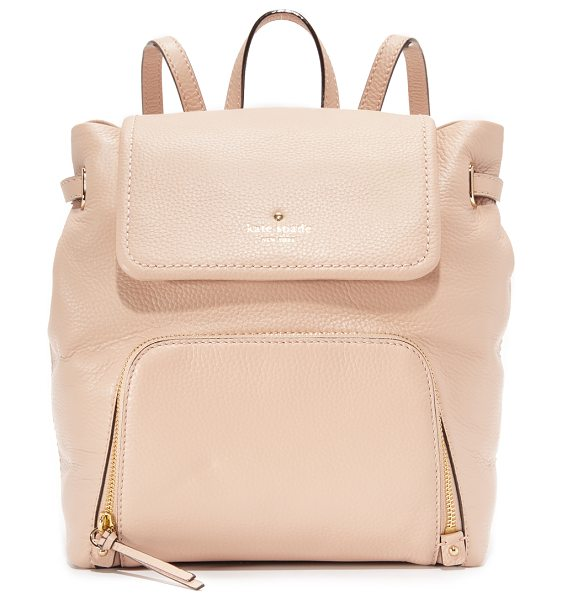 Kate Spade New York Charley backpack in pressed powder/flo geranium