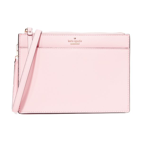 KATE SPADE NEW YORK clarise cross body bag in pink sunset - A scaled-down Kate Spade New York cross-body bag with a...