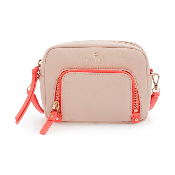 KATE SPADE NEW YORK Cobble hill in pressed powder/ flo geranium - A scaled-tiny crossbody bag that can also be carried as...