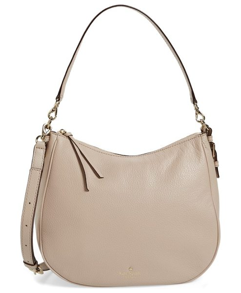 Kate Spade New York cobble hill mylie leather hobo in rose cloud - Look refined and polished with this versatile hobo that...