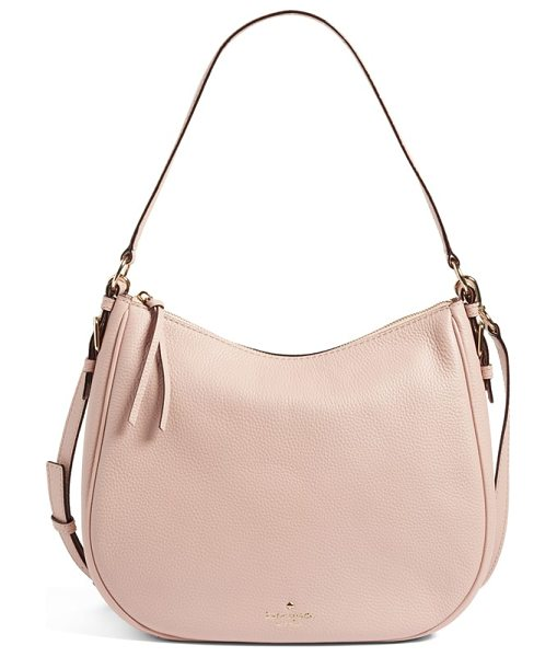 Kate Spade New York cobble hill mylie leather hobo in pink granite - Look refined and polished with this versatile hobo that...