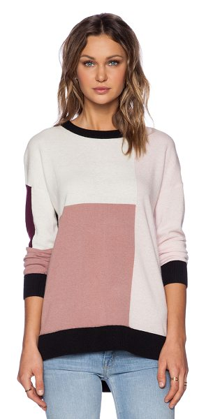 Kate Spade New York Colorblock slouchy sweater in pink - 50% wool 35% modal 11% polyamide 4% cashmere. Dry clean...