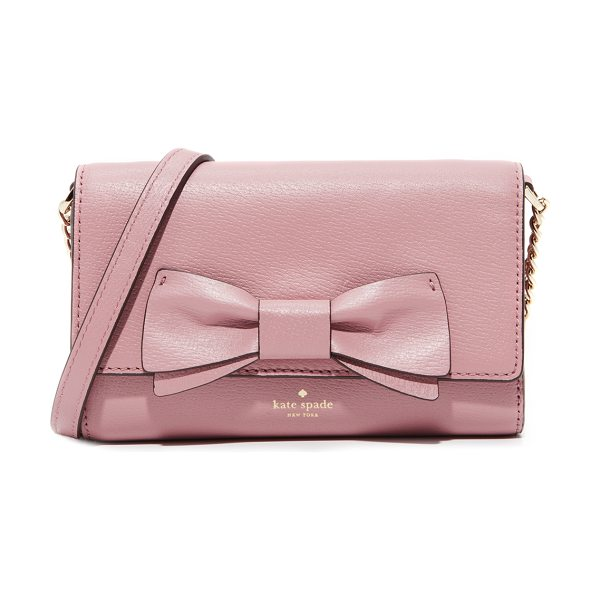 Kate Spade New York olive drive corin cross body bag in dusty peony - A petite Kate Spade New York cross-body bag with a bow...
