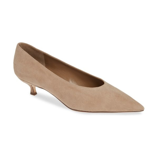 Kate Spade New York dale pump in beige - A delicate kitten heel provides demure counterpoint to...