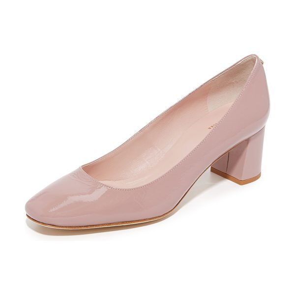 Kate Spade New York dolores pumps in rose quartz - Versatile Kate Spade New York pumps in glossy, crinkled...