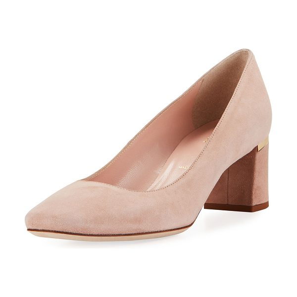 "Kate Spade New York dolores too suede pump in fawn - kate spade new york pump in kid suede. 2"" block heel..."
