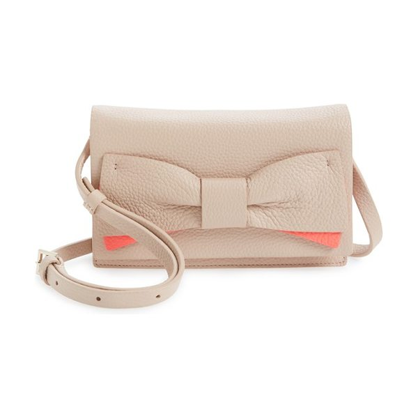 Kate Spade New York Eden lane in pressed powder/ flo geranium - A bow in two chic tones enhances the understated...