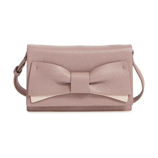 Kate Spade New York Eden lane in porcini/ rose cloud - A bow enhances the understated elegance of a compact bag...