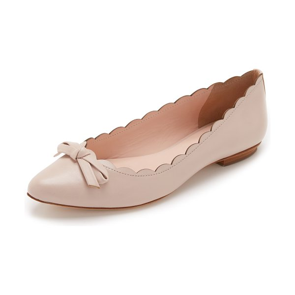 Kate Spade New York Eleni flats in pale pink - Smooth leather Kate Spade New York flats styled with a...