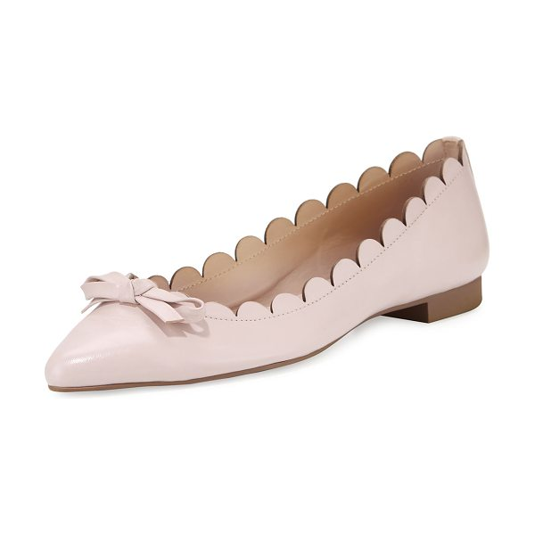 "Kate Spade New York eleni flex scalloped ballerina flat in pink - kate spade new york napa leather ballerina flat. 0.4""..."