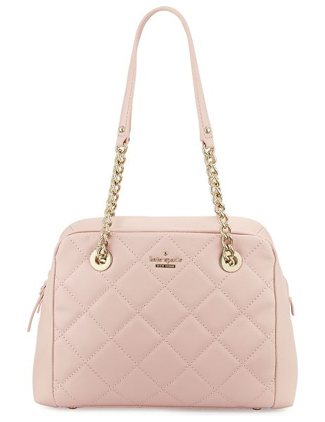 Kate Spade New York emerson place dewy quilted shoulder bag in pink pattern - kate spade new york quilted leather shoulder bag. Light...