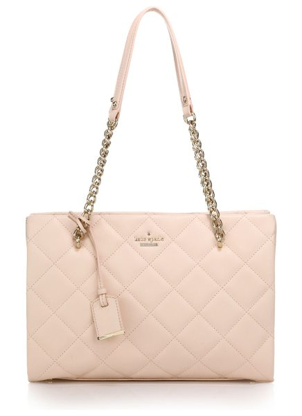 Kate Spade New York Emerson place quilted leather tote in pink - A quilted leather bag with chain shoulder straps is...