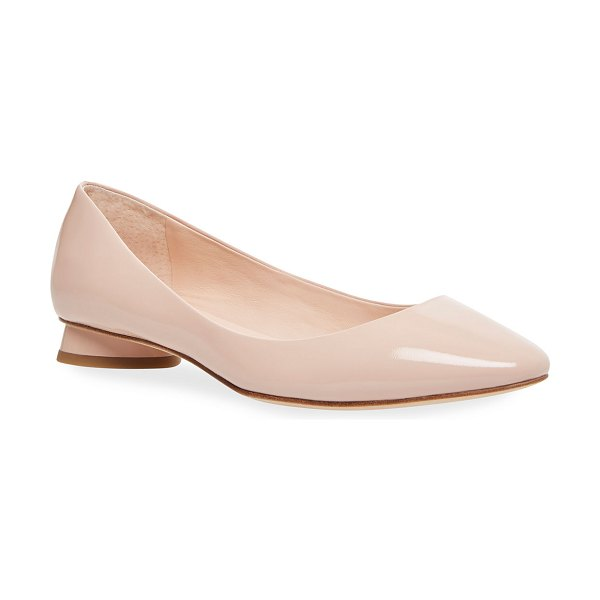 Kate Spade New York fallyn patent leather ballet flats in tusk