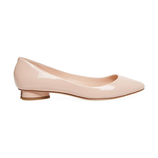 Kate Spade New York fallyn patent leather flats in tusk