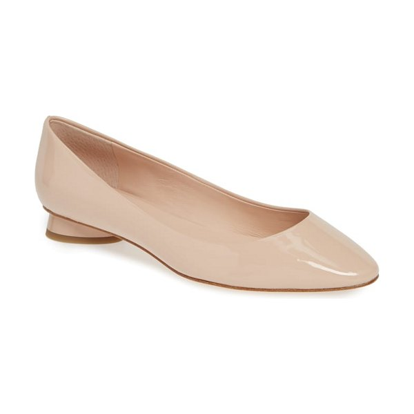 Kate Spade New York fallyn skimmer flat in beige - A plunging topline complements the curvy almond toe of a...
