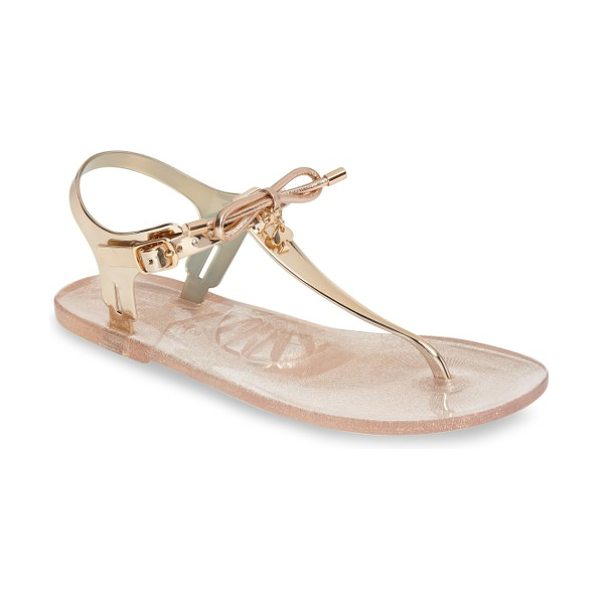 Kate Spade New York fanley thong sandal in rose gold - Perfect for poolside or lazy days at the beach, this...