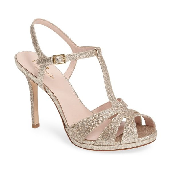 Kate Spade New York feodora sandal in gold fine glitter - Punctuate your evening style with a strappy,...