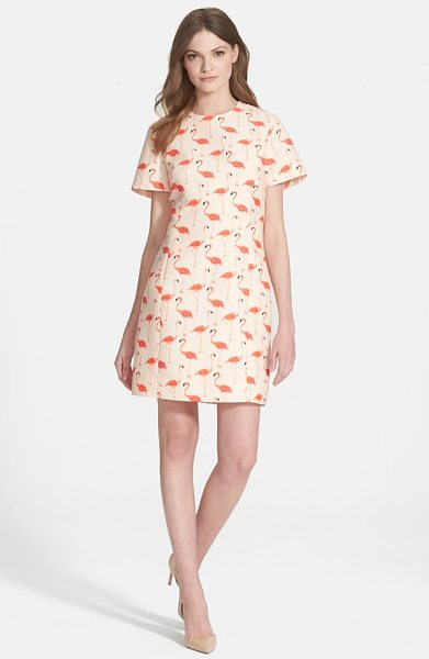 KATE SPADE NEW YORK flamingo sheath dress - A flamboyance of flamingos patterns a crisply tailored...