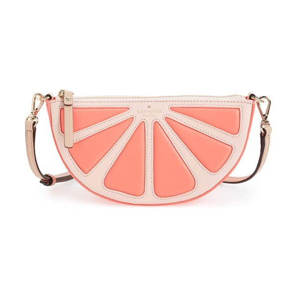 Kate Spade New York Flights of fancy grapefruit crossbody bag in coral sunset multi - A juicy treat for the summer that'll last forever, this...