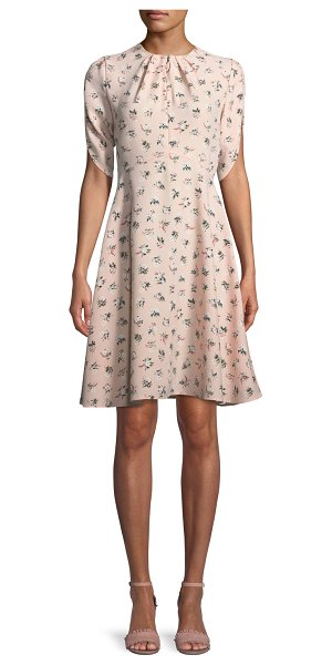 KATE SPADE NEW YORK flora split-neck tulip-sleeve dress - kate spade new york flora tulip-sleeve dress. Split...