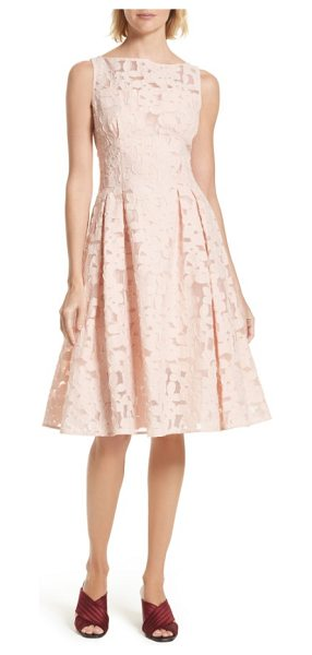 Kate Spade New York floral fil coupe fit & flare dress in rose dew - A sweet yet sophisticated party dress is cut to a demure...