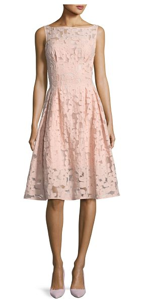 Kate Spade New York floral fil coupe sleeveless bateau-neck cocktail dress in pink - kate spade new york dress in floral fil coupe. Approx....