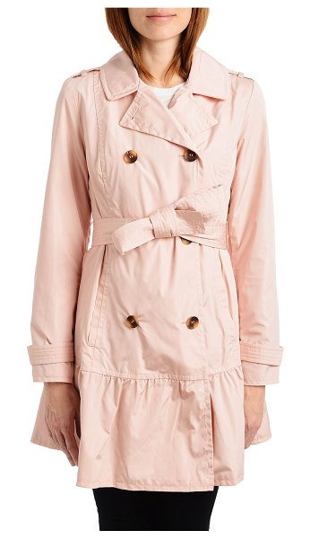 Kate Spade New York flounce double-breasted trench coat in blush rose