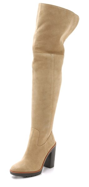 Kate Spade New York Gabry lined boots in desert - Shearling lining lends warmth to these suede Kate Spade...
