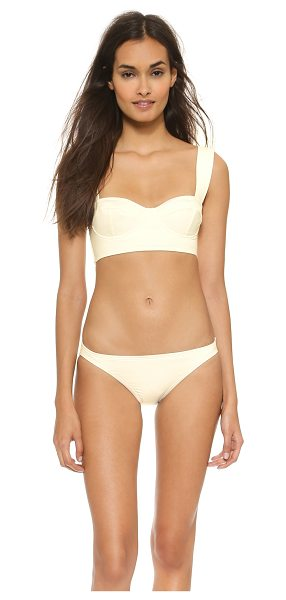 Kate Spade New York Georgica beach bikini top in cream