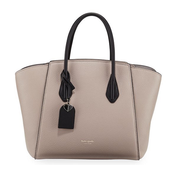 Kate Spade New York grace large leather satchel bag in taupe