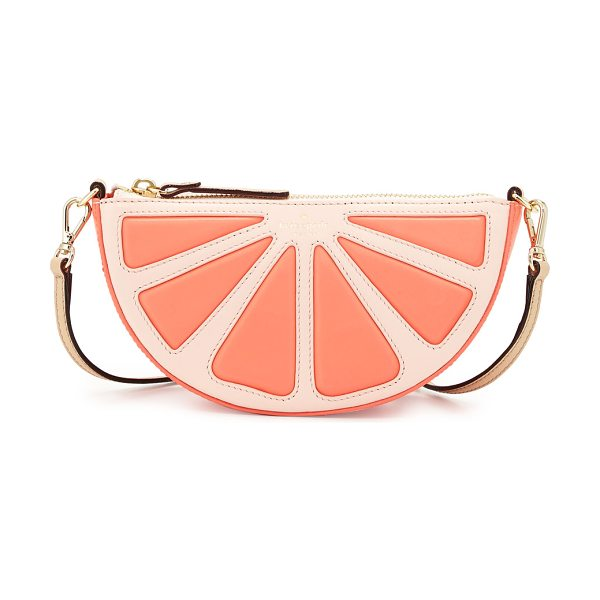 Kate Spade New York Grapefruit leather crossbody bag in coral sunset - kate spade new york leather crossbody with...