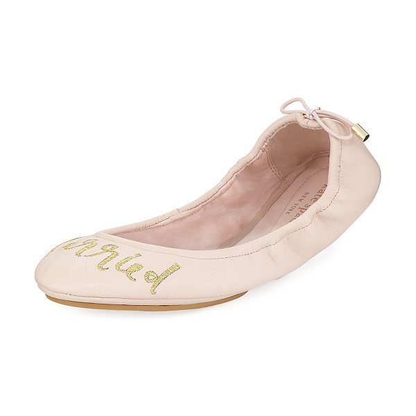 Kate Spade New York gwen tie leather ballerina flat in ballet pink - kate spade new york ballerina flat in sheep leather....