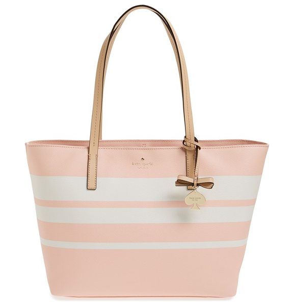 Kate Spade New York Hawthorne lane in urchin pink/ cement - A bold, graphic pattern and slim handles are the perfect...