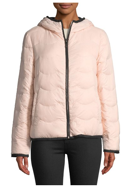 "Kate Spade New York hooded & packable down jacket in cameo pink - kate spade new york quilted puffer jacket. Approx. 23""L..."