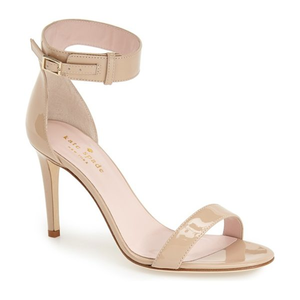 KATE SPADE NEW YORK 'isa' ankle strap sandal - A buckle-embellished ankle strap adds a thoroughly...