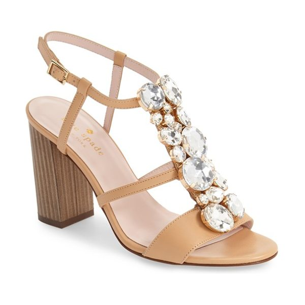 Kate Spade New York isabell sandal in natural/ clear crystals