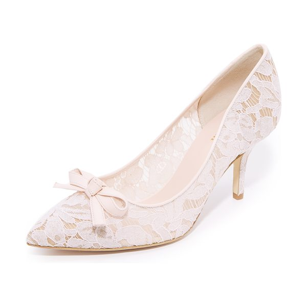 Kate Spade New York jace lace pumps in blush - Delicate floral lace covers these mesh Kate Spade New...