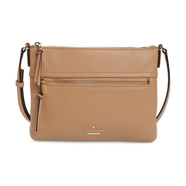 Kate Spade New York jackson street in hazel - A slim and trim crossbody bag in supple pebbled leather...
