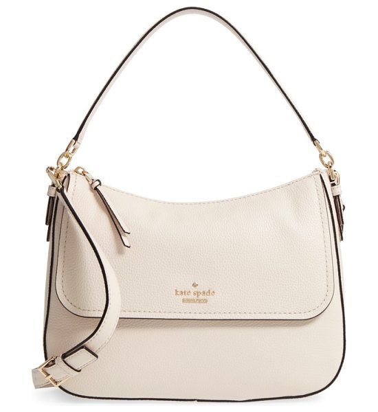 Kate Spade New York jackson street in bleach bone - Signature hardware gleams on a clean, classic satchel...