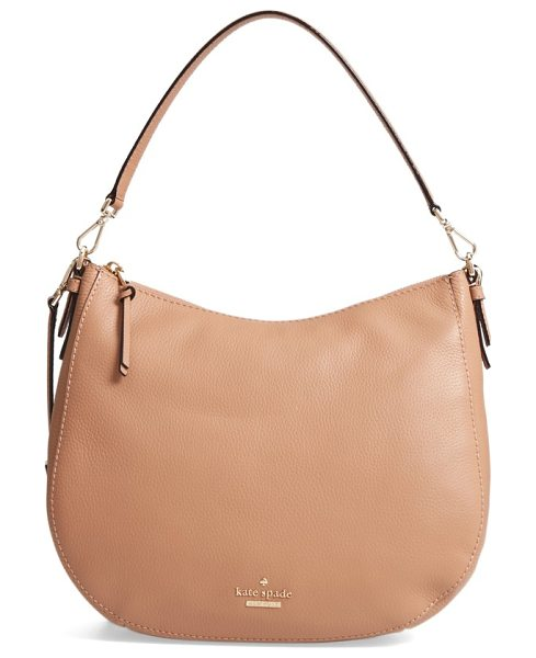 Kate Spade New York jackson street mylie leather hobo in hazel - A removable, adjustable crossbody strap lets you switch...