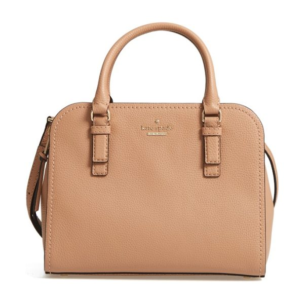 Kate Spade New York jackson street small kiernan leather top handle satchel in hazel - Clean, classic style is the name of the game with this...