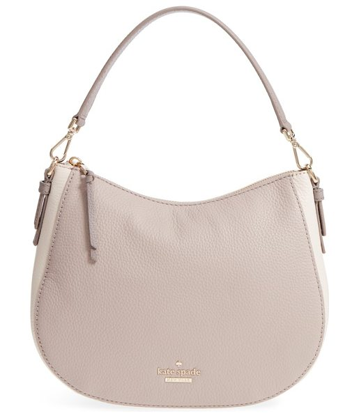 KATE SPADE NEW YORK jackson street small mylie leather hobo - A clean-lined compact hobo cut from pebbled leather...