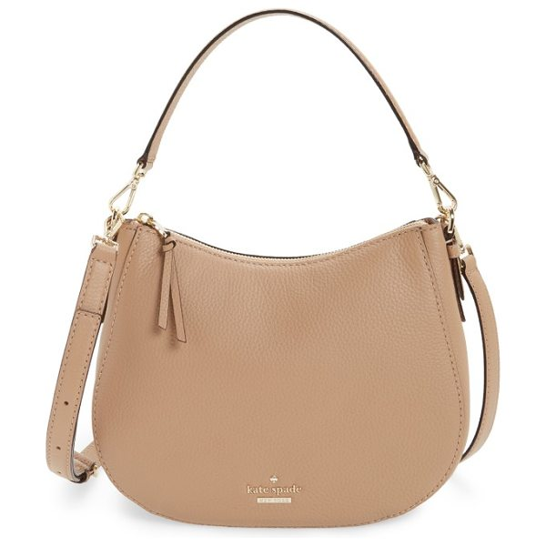 KATE SPADE NEW YORK jackson street small mylie leather hobo in hazel - A clean-lined compact hobo cut from pebbled leather...