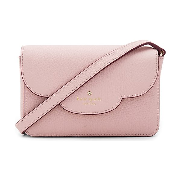 Kate Spade New York Joley Crossbody Bag in pink granite - Leather exterior with poly fabric lining. Flap top with...