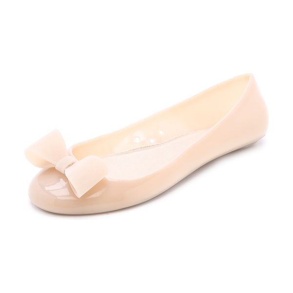 Kate Spade New York Jove ballet flats in dusty mauve - A textured bow complements the girly look of these...