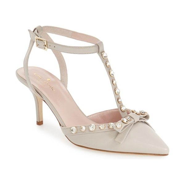KATE SPADE NEW YORK julianna pointy toe pump - Faceted round crystals dazzle on the straps of a...