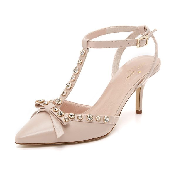 KATE SPADE NEW YORK Julianna pumps - Shimmering rhinestones and a bow lend glamour to these...