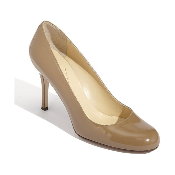 Kate Spade New York 'karolina' pump in camel patent - Sleek, round-toe pump features a classic style in modern color.